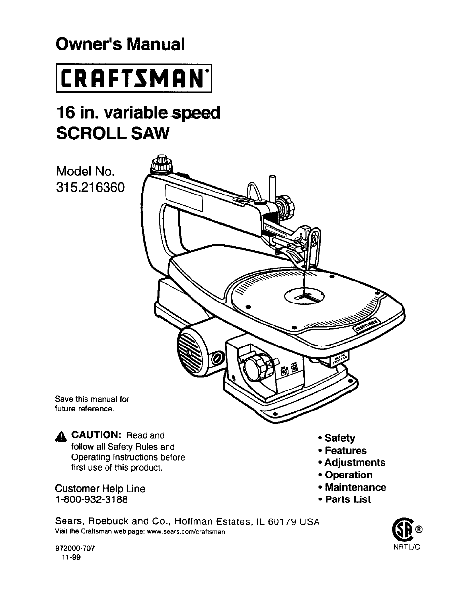 Craftsman 315216360 user manual 26 pages greentooth Image collections