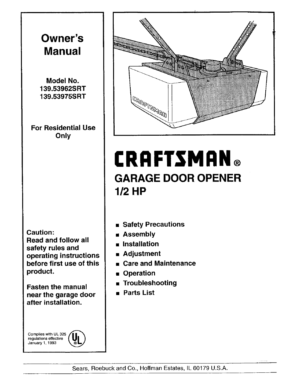 Craftsman 139 53975srt User Manual 40 Pages Also For
