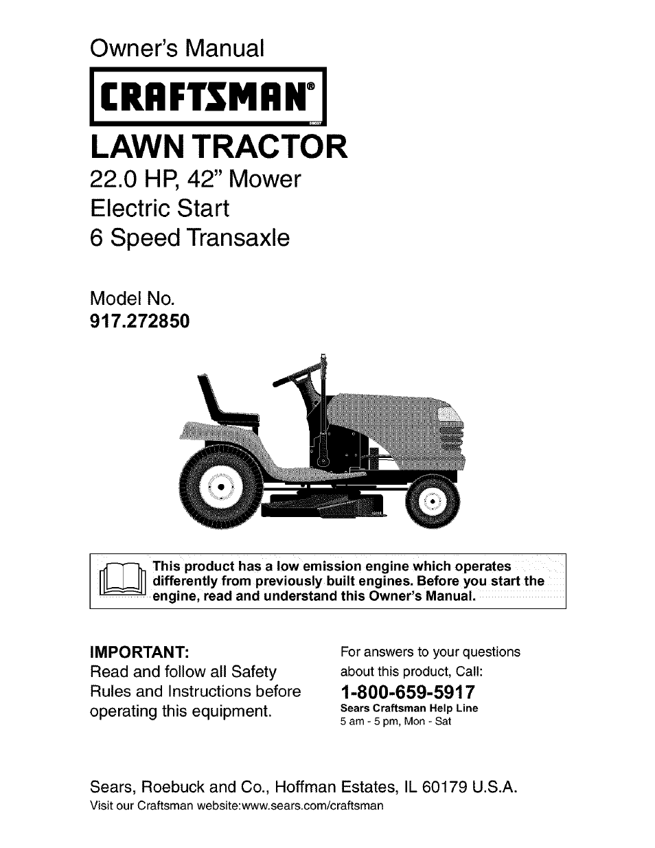 A8E97 Manual For Craftsman Lawn Mower Model 917 | Wiring LibraryWiring Library