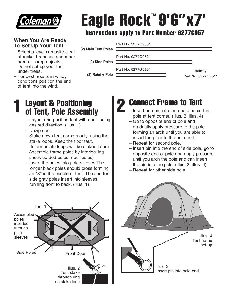 sc 1 st  manualsdir.com & Coleman Eagle Rock User Manual | 2 pages