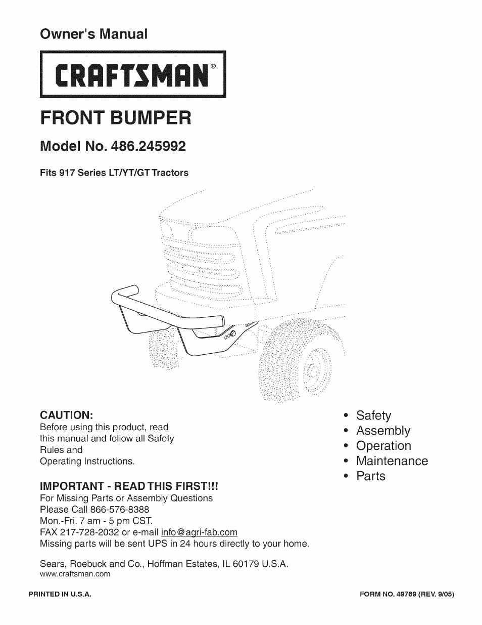 craftsman 486 245992 user manual 8 pages rh manualsdir com Craftsman Snowblower Manual Craftsman Snow Blower Manuals 24788190 0