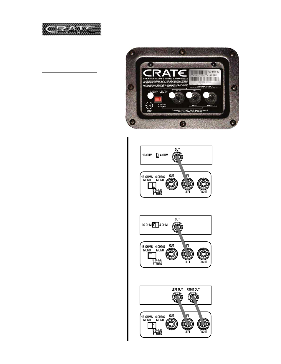 Gt412sl St Guitar Enclosure Crate Amplifiers Gt412st User Manual Cabinet Jack Wiring Page 3