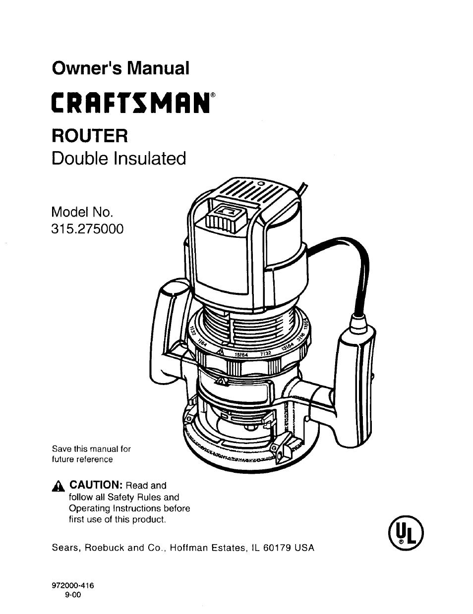 craftsman user manual