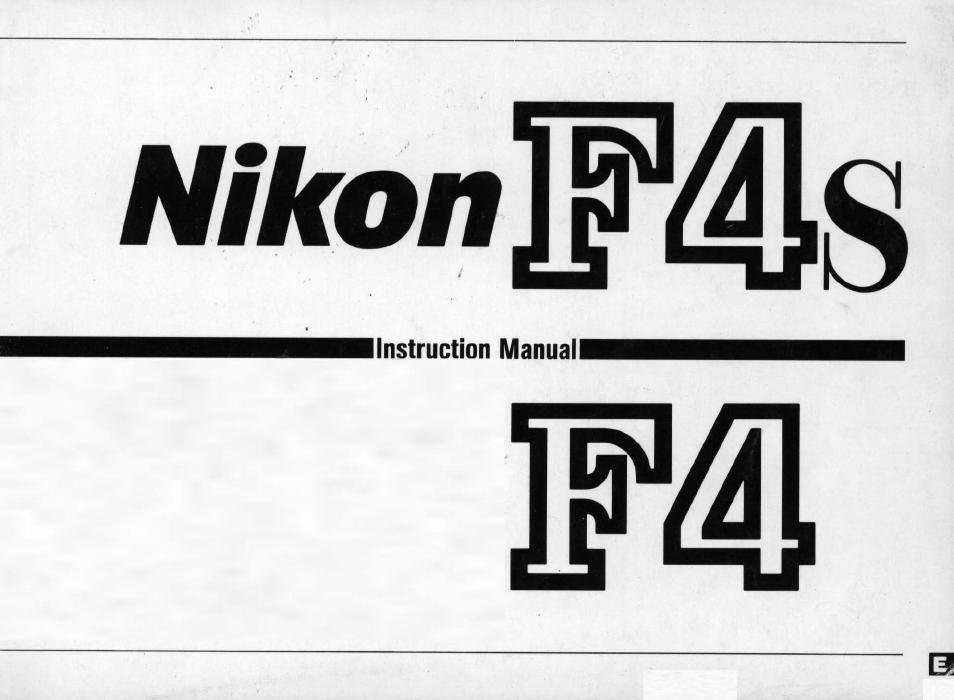 Nikon F4 User Manual | 181 pages