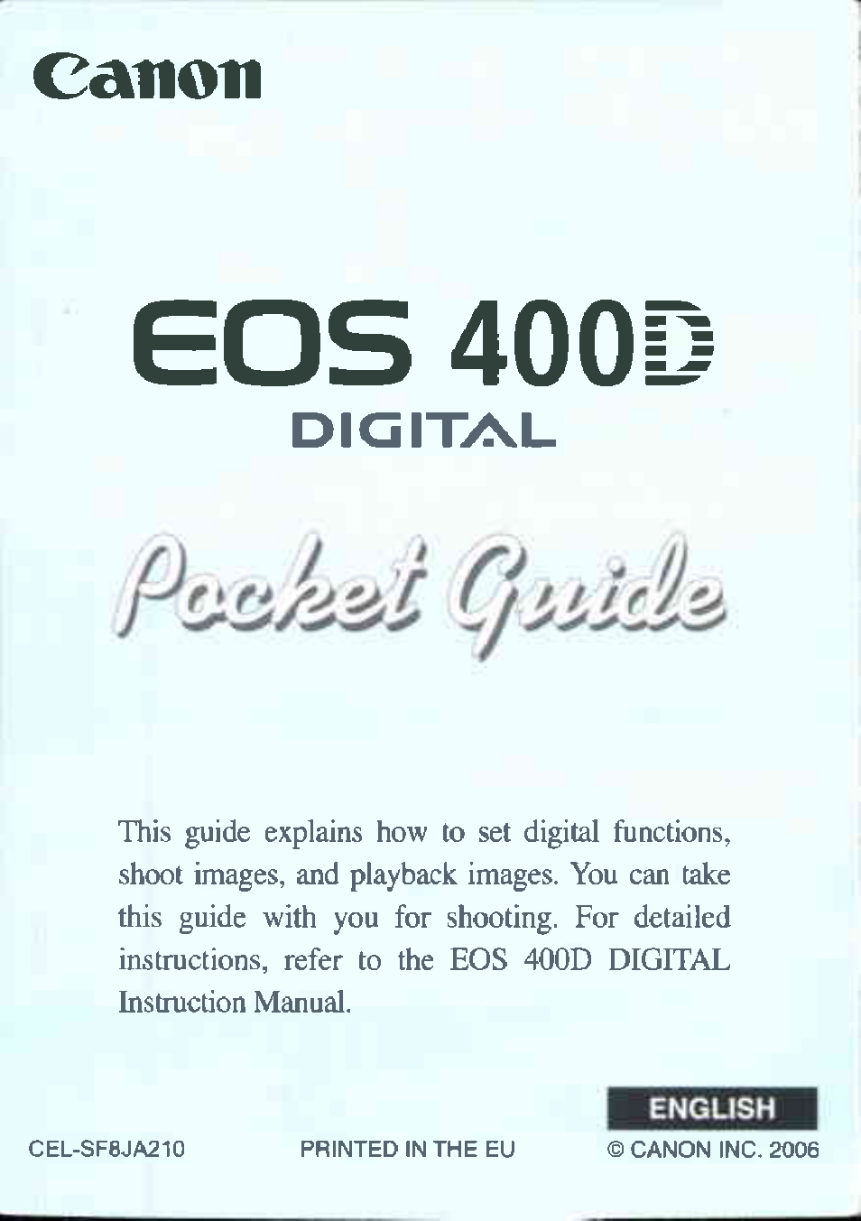 canon 400d user manual