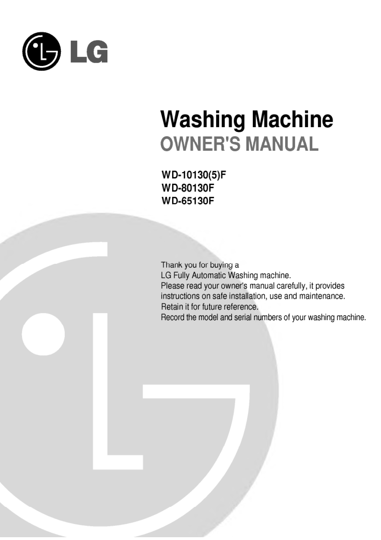 lg washing machine owner s manual