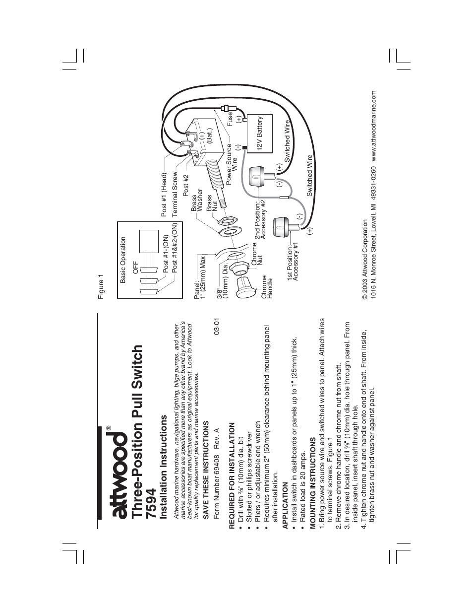 attwood push pull switch three position user manual 1 page Tone Push Pull Pot Wiring-Diagram