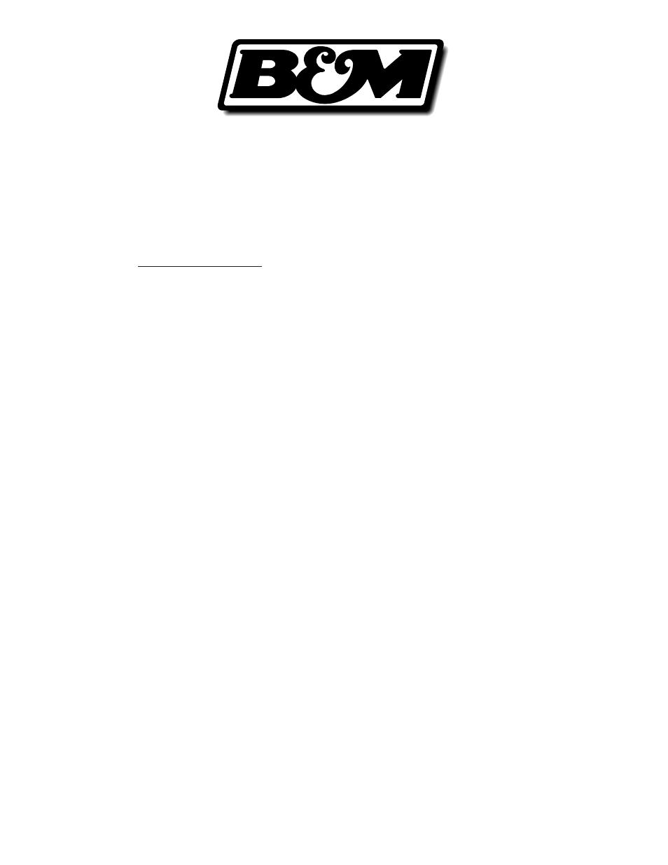 Bm 80885 Hammer Shifter User Manual 8 Pages