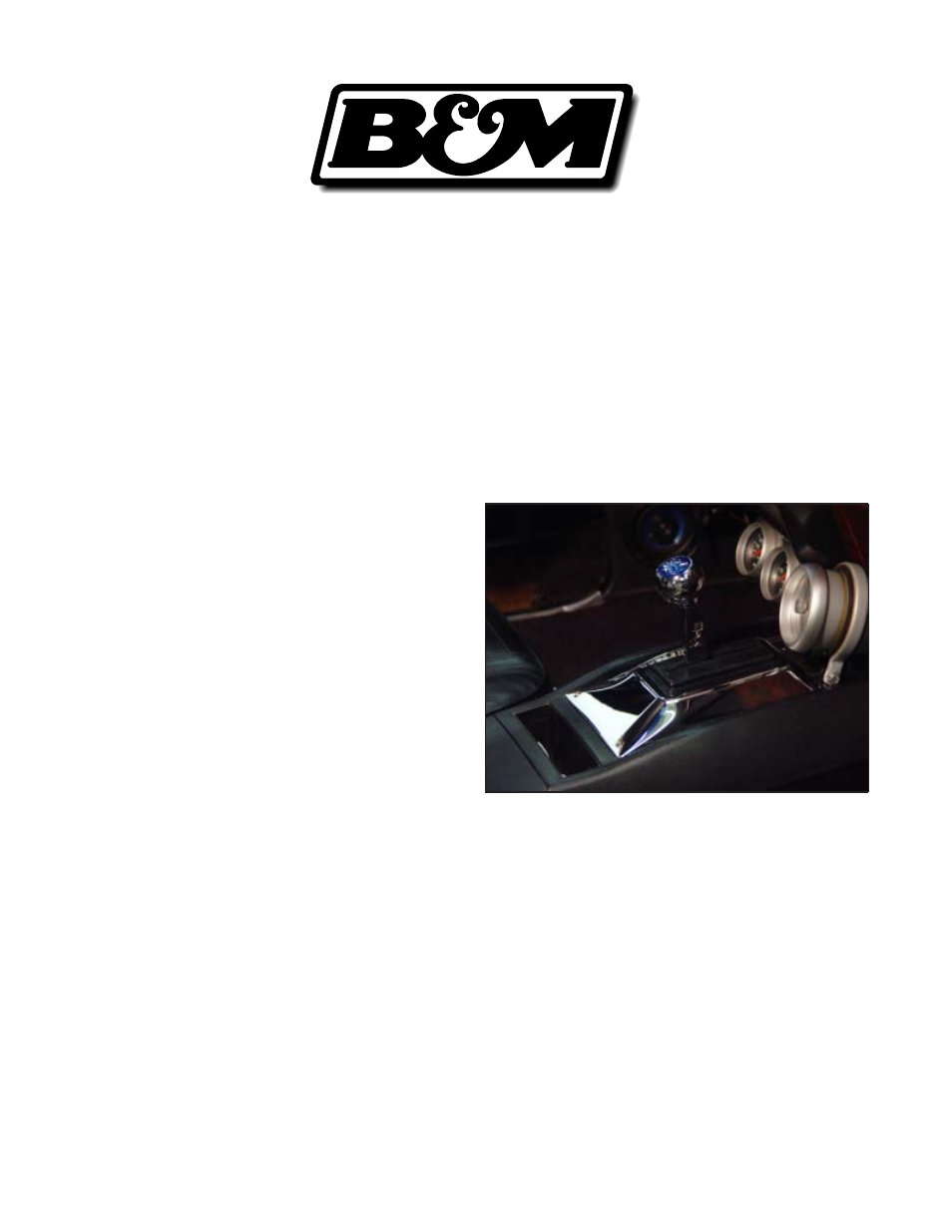 b&m quicksilver shifter installation instructions