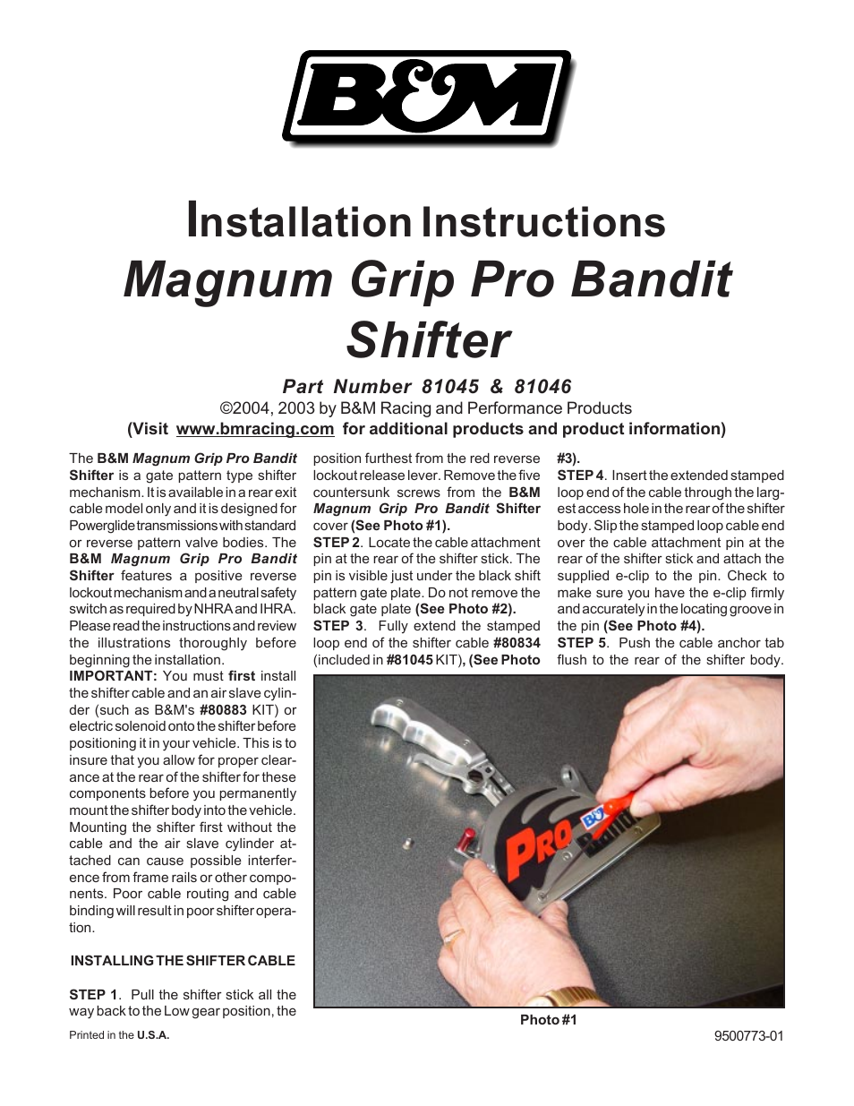 Bm 81111 Automatic Shifter Stealth Pro Bandit Magnum Without