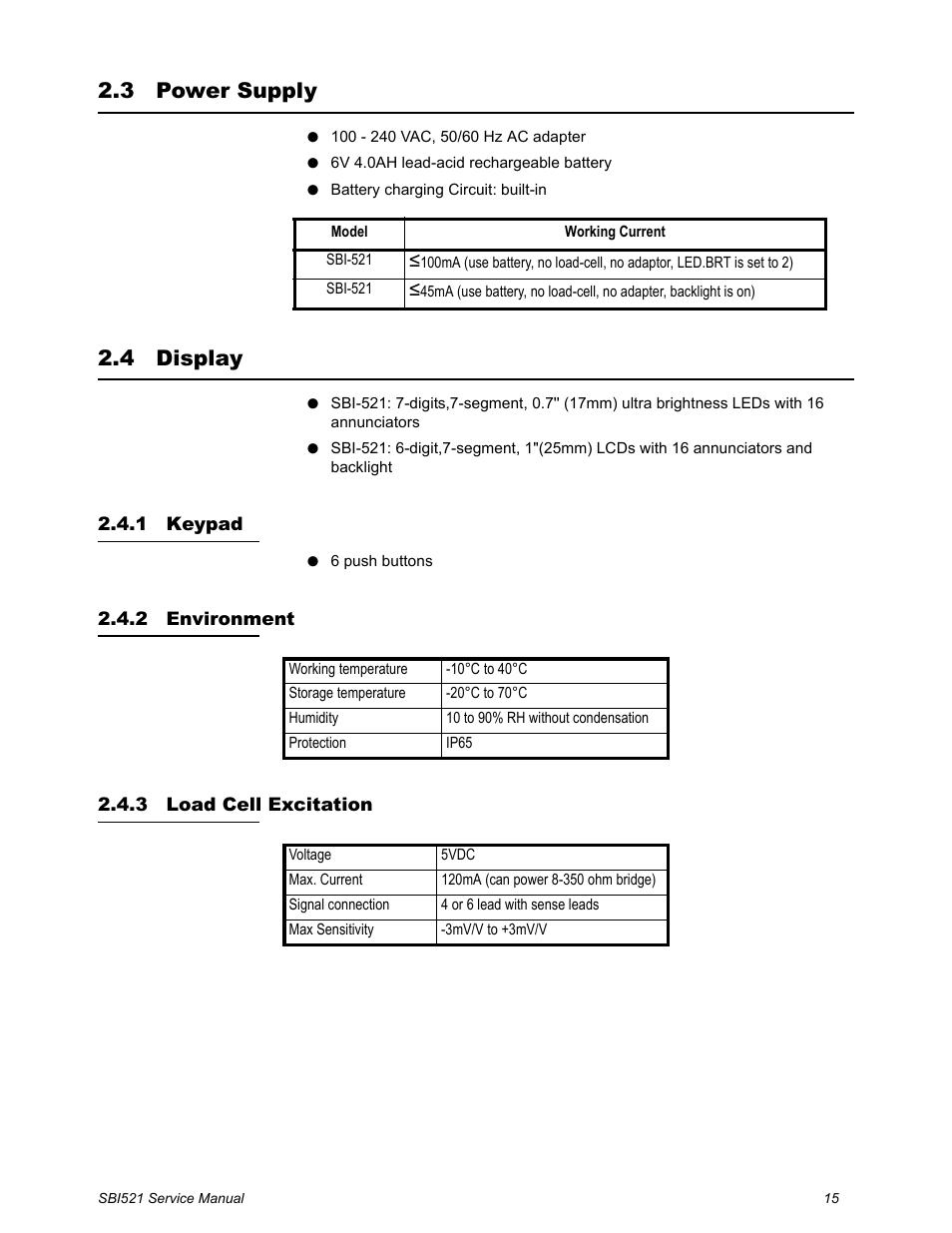 3 power supply, 4 display, 1 keypad | Salter Brecknell WB