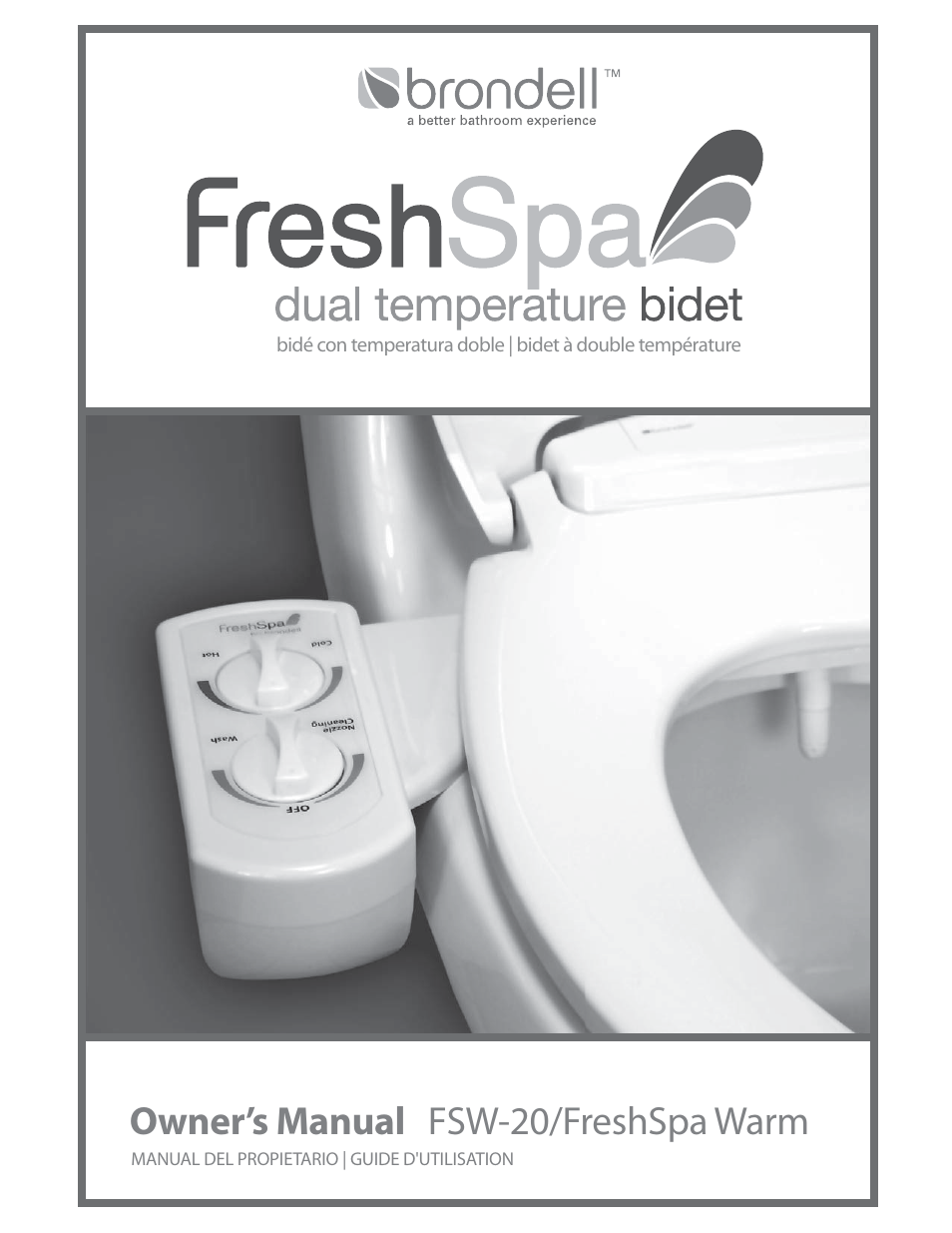 Sensational Brondell Freshspa Dual Temperature Bidet User Manual 52 Pages Gmtry Best Dining Table And Chair Ideas Images Gmtryco