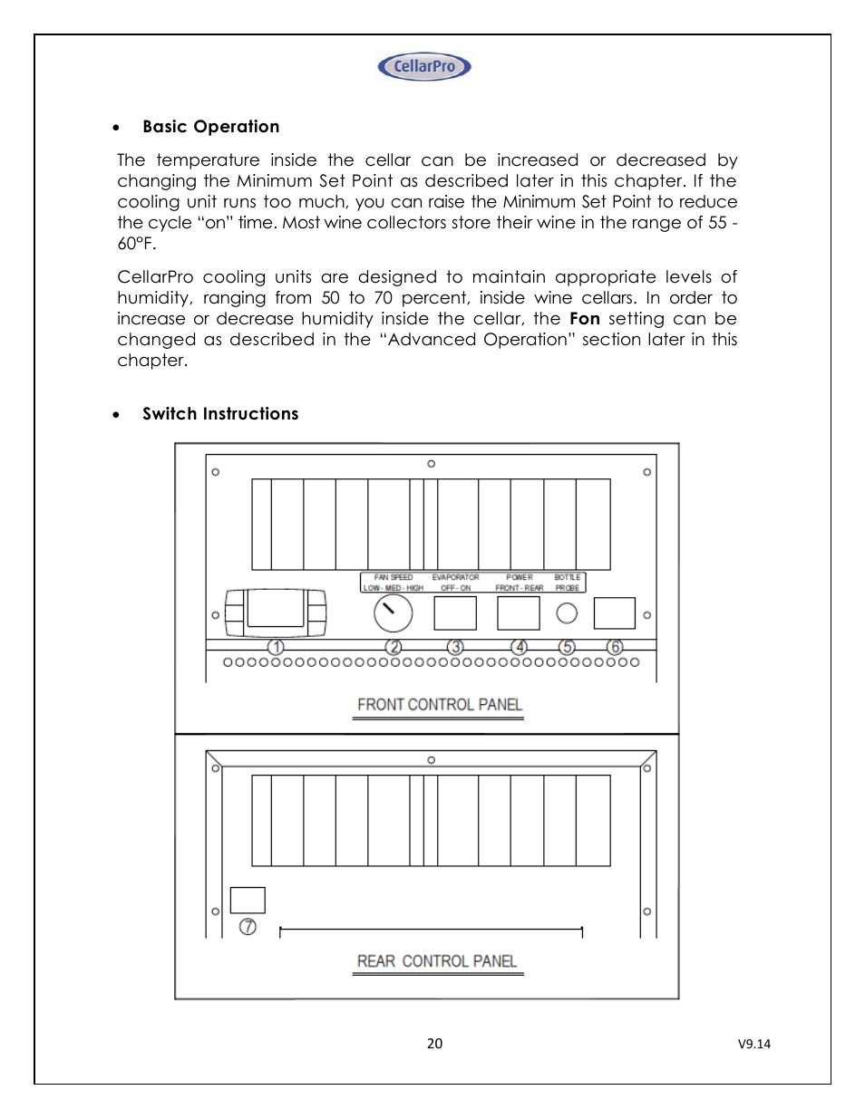 CellarPro 4200VSI-B BEER REFRIGERATION SYSTEM, 2177 User Manual | Page 20 /  32
