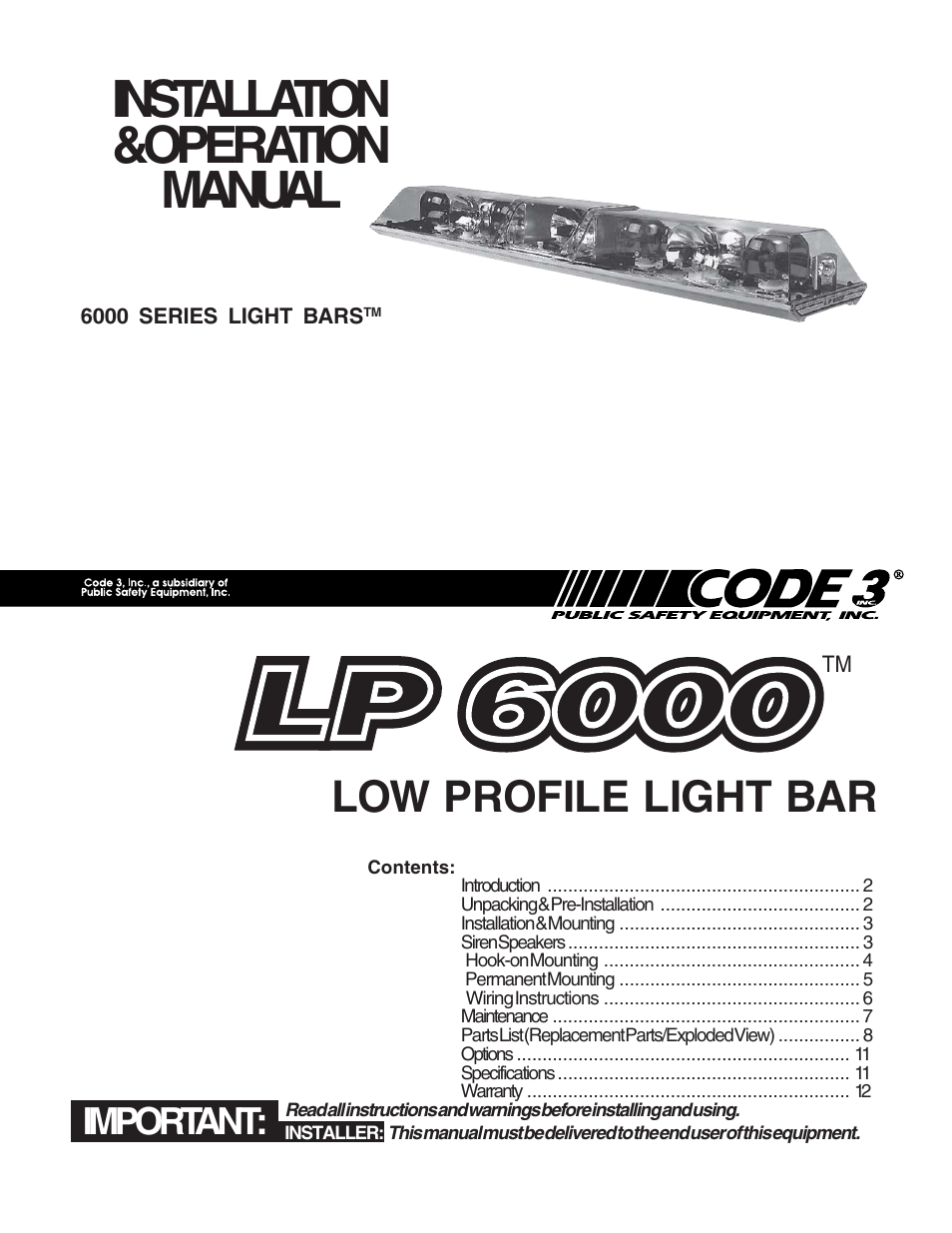 code 3 lp 6000 page1 code 3 lp 6000 user manual 12 pages code 3 siren wiring diagram at mifinder.co