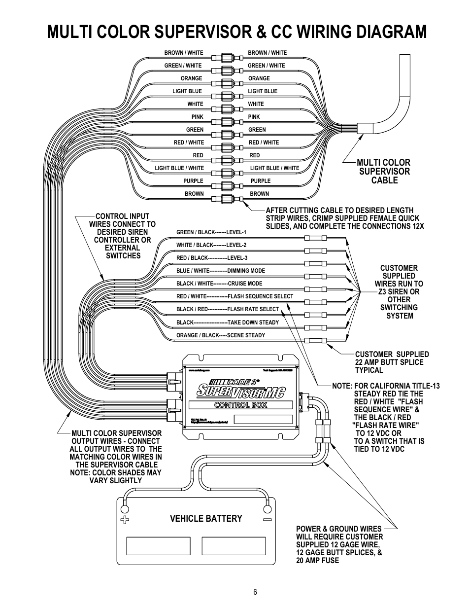 code 3 mc supervisor tahoe page6 multi color supervisor \u0026 cc wiring diagram multi color