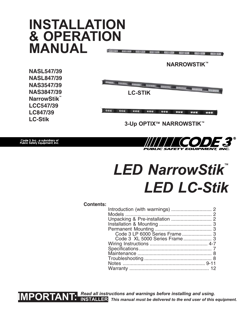 code 3 narrowstik page1 code 3 narrowstik wiring electrical wiring color code standards code 3 arrowstick wiring diagram at virtualis.co