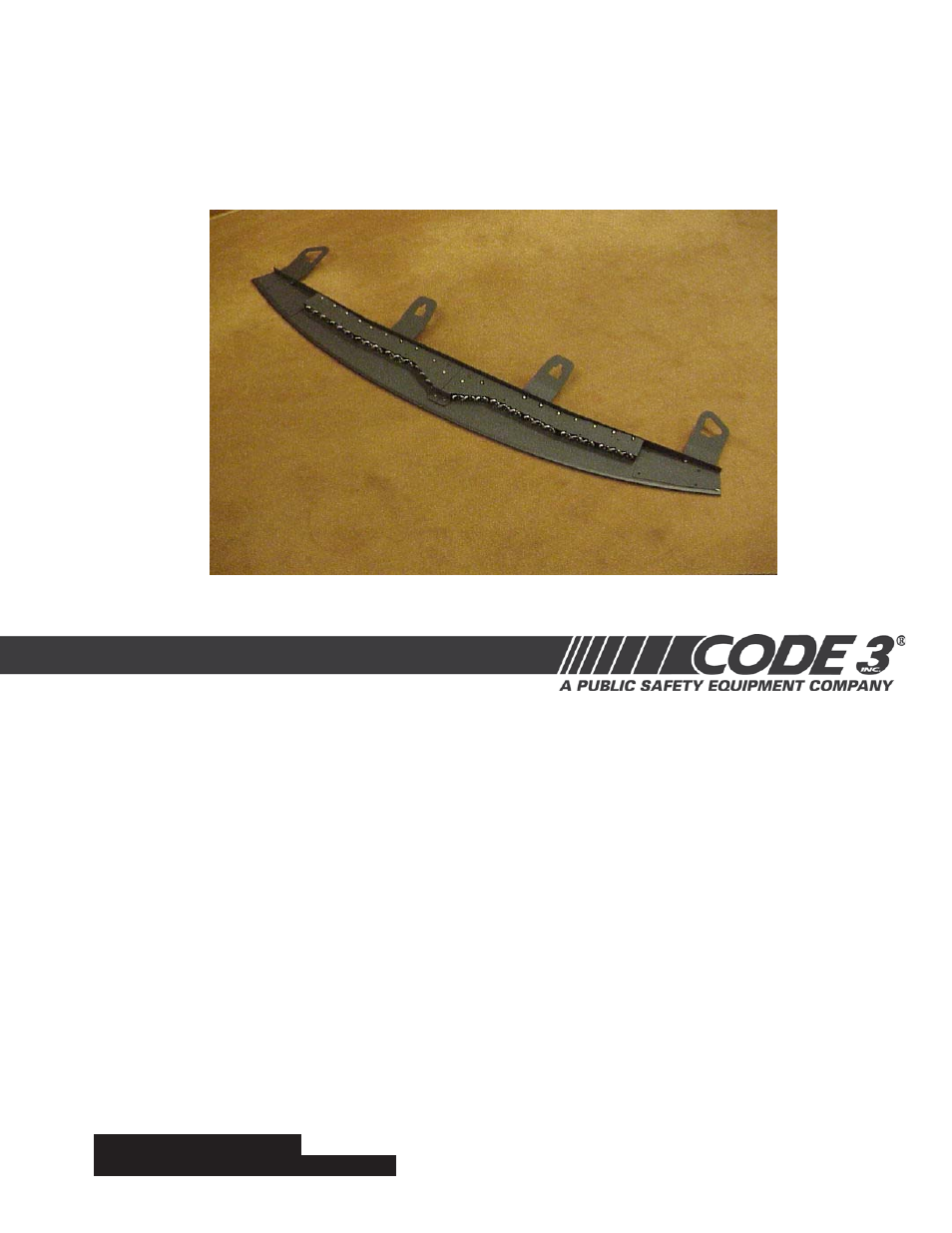 Code 3 Supervisor For 2006 Ford Crown Victoria User Manual