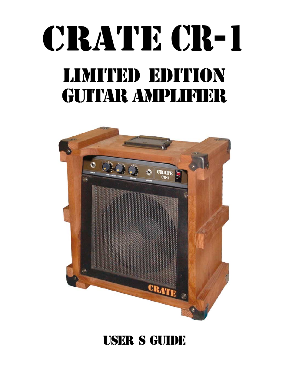 crate amplifiers cr 1 user manual 12 pages rh manualsdir com Crate Amps History Vintage Crate Amps