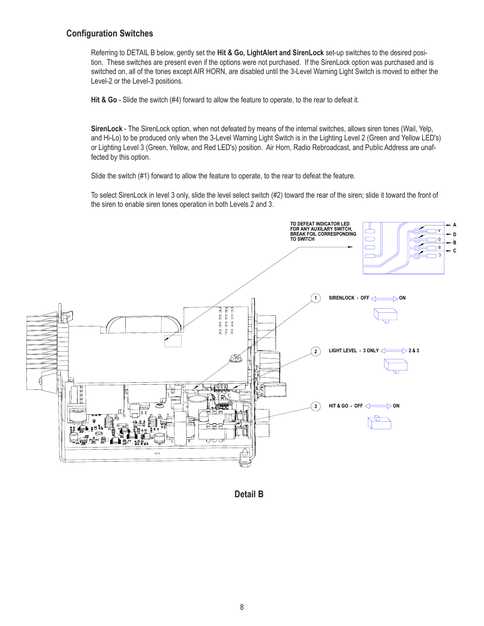 Configuration Switches  Detail B