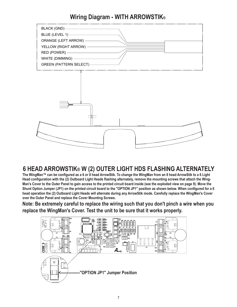 Code 3 Wingman Wiring Diagram Completed Diagrams Crown Vic With Arrowstik 6 Head W 2 Outer Light Wire