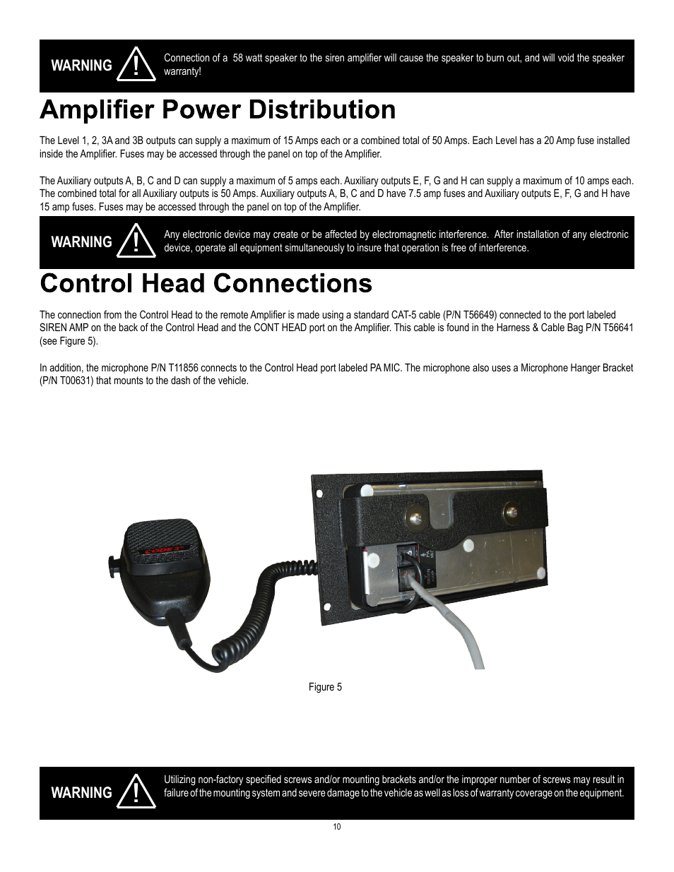 Code 3 Z3 Siren Installation & Operation Manual User Manual | Page