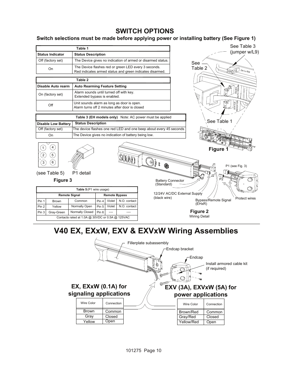 Detex Wiring Diagrams Bgmt Data Pierce Winch Ps534h Diagram V40 Ex Exxw Exv Exvxw Assemblies Switch Options Figure Rh Manualsdir Com Residential Electrical Basic