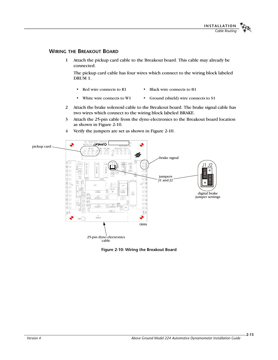Wiring the breakout board | Dynojet 224x: Installation Guide User ...