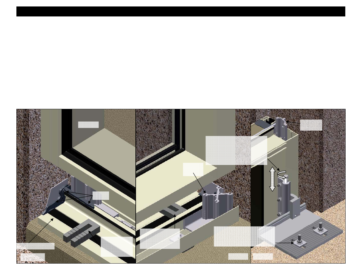 Section 8:setting units at dynamic starter sills   EFCO