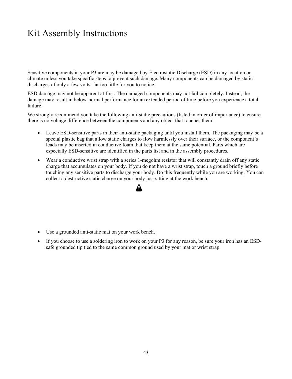 Kit assembly instructions | Elecraft P3 High-Performance Panadapter
