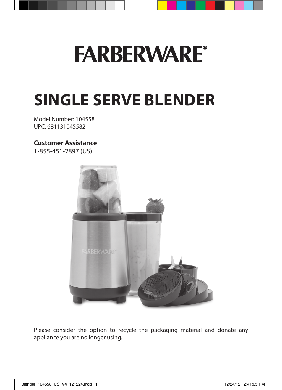Farberware 104558 17 piece rocket blender user manual 19 for What brand of blender is used on the chew