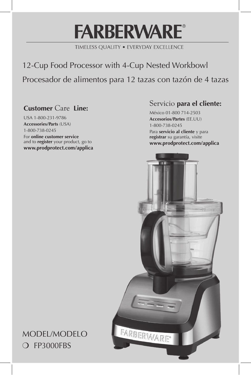 Farberware Food Processor Manual