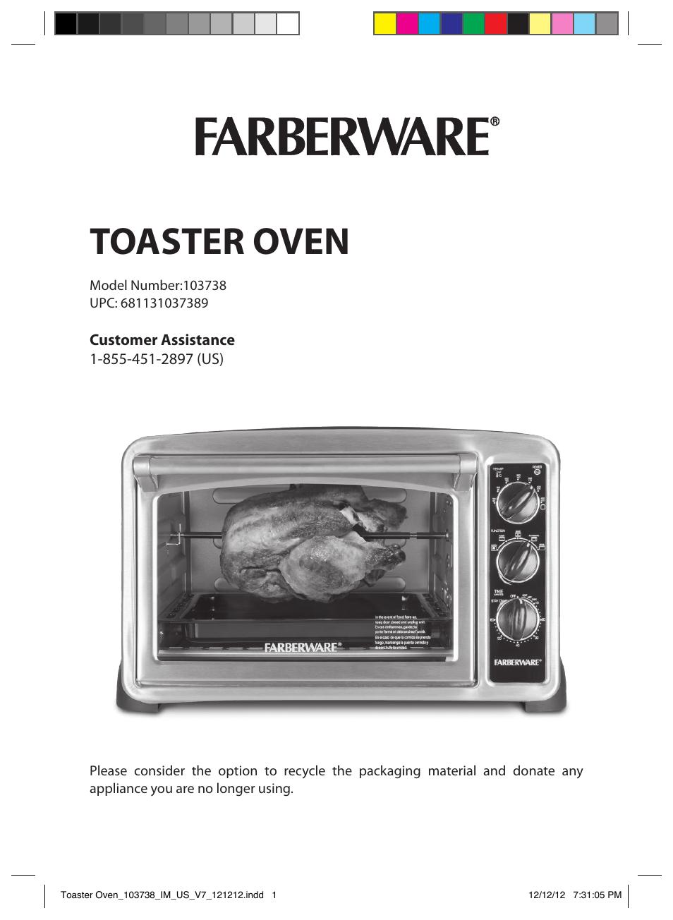 Farberware 25l Digital Toaster Oven Manual Digital