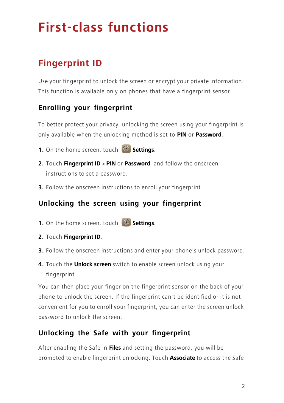 First-class functions, Fingerprint id, Enrolling your