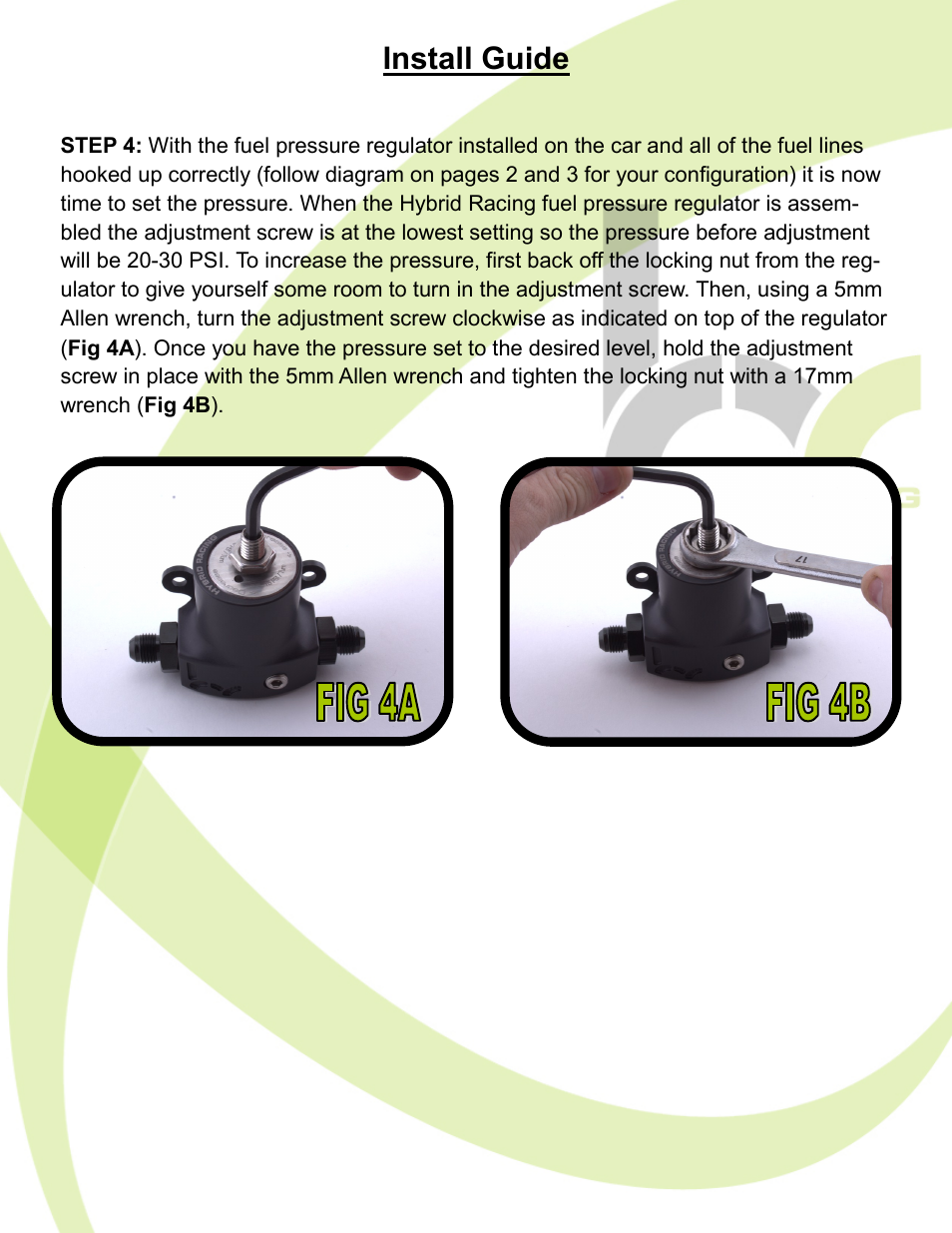 Install Guide Hybrid Racing Hr Unibody Fuel Pressure Regulator User Manual Page 6 7