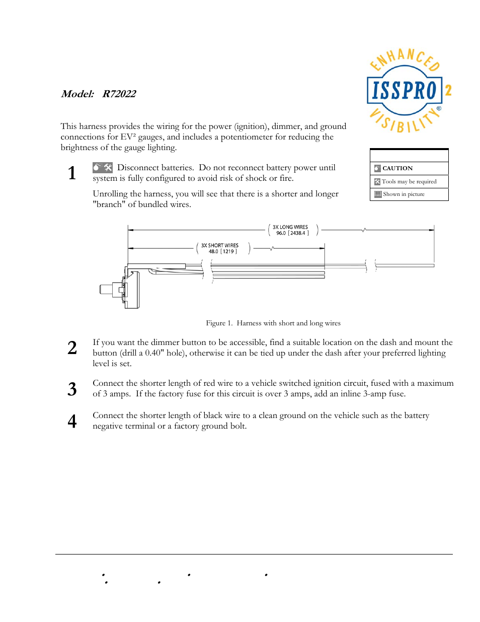 ISSPRO R72022 User Manual | 2 pages on