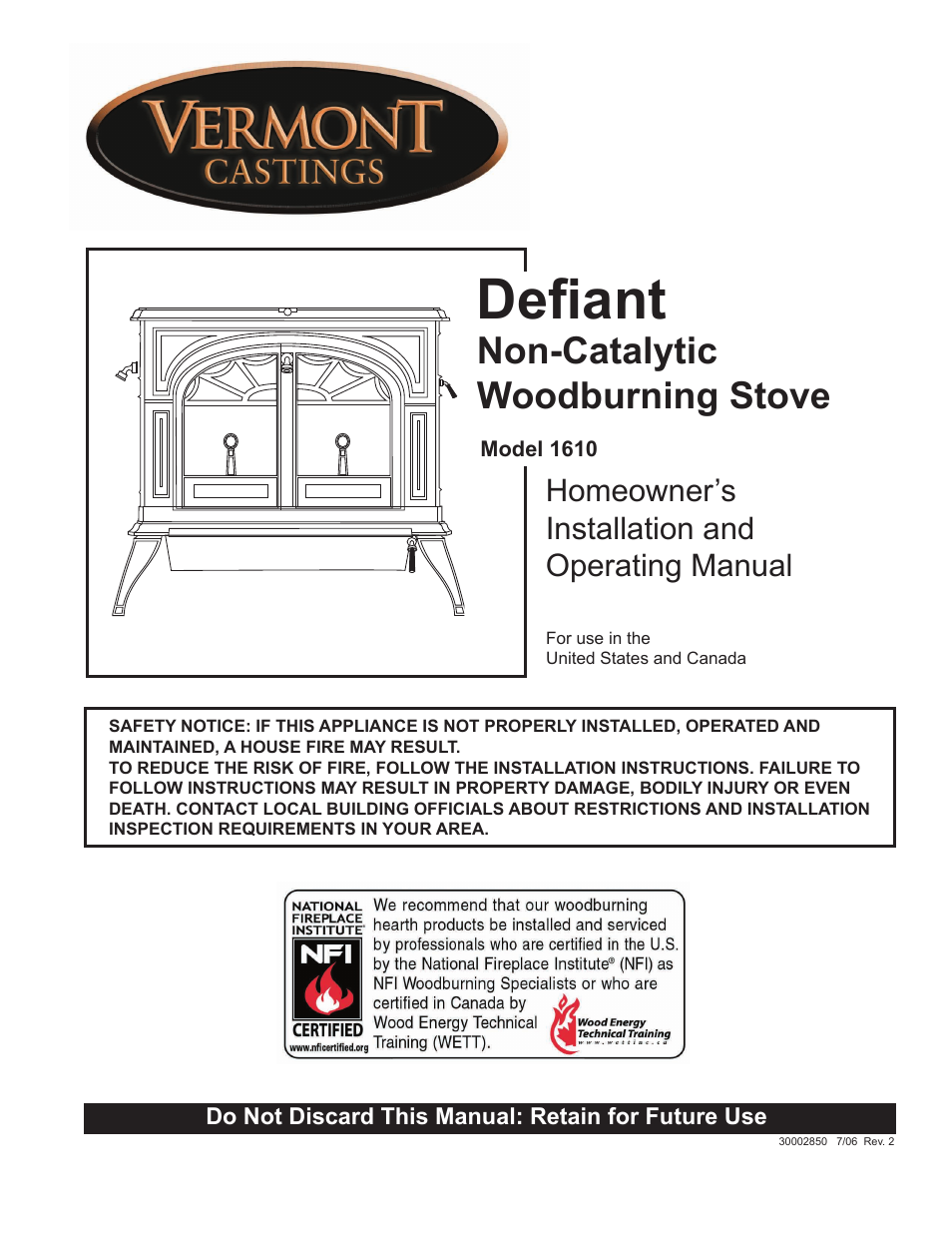 vermont casting 1610 user manual 40 pages rh manualsdir com vermont castings defiant repair manual Vermont Castings Defiant Model 1975