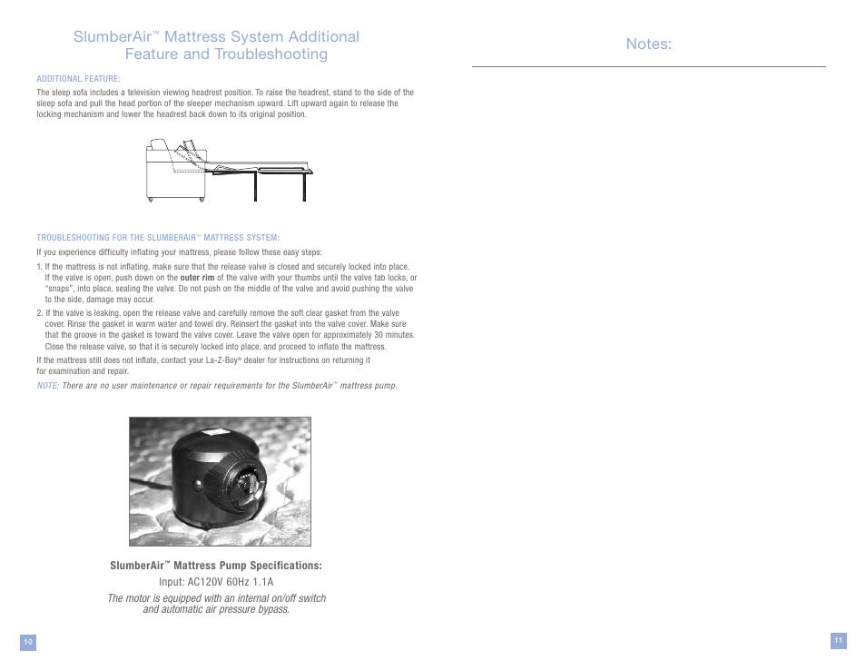 Slumberair La Z Boy Mattress System User Manual Page 6 16