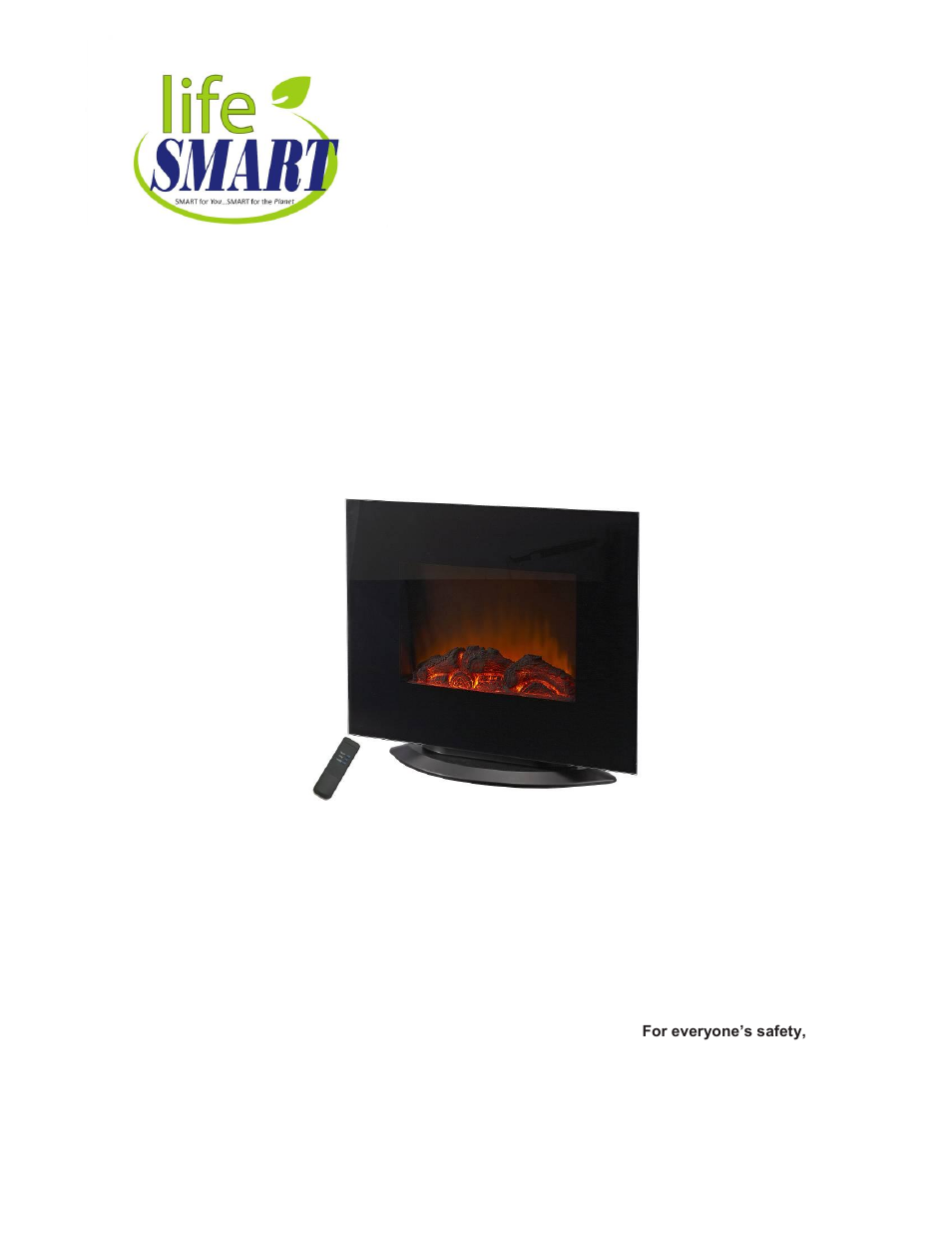 lifesmart l ef450 combo page1 lifesmart infrared fireplace wiring diagram real flame infrared  at gsmx.co