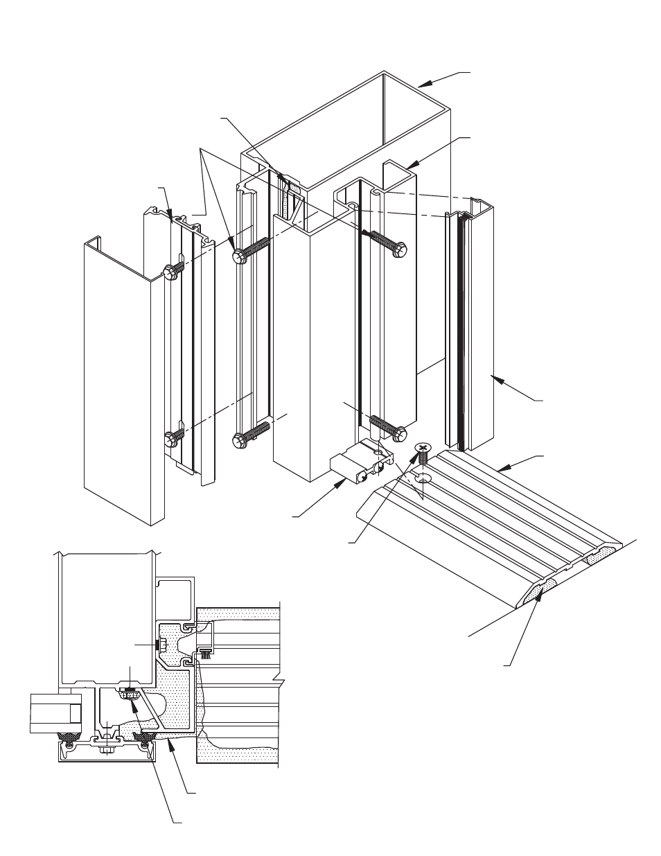 Door-subframe-install, Door frame assembly - sub-frame at threshold ...
