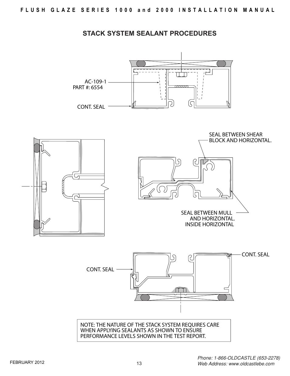 Stack Sealant Procedure Oldcastle Buildingenvelope Fg 2000 User F G Block Diagram Manual Page 14 27