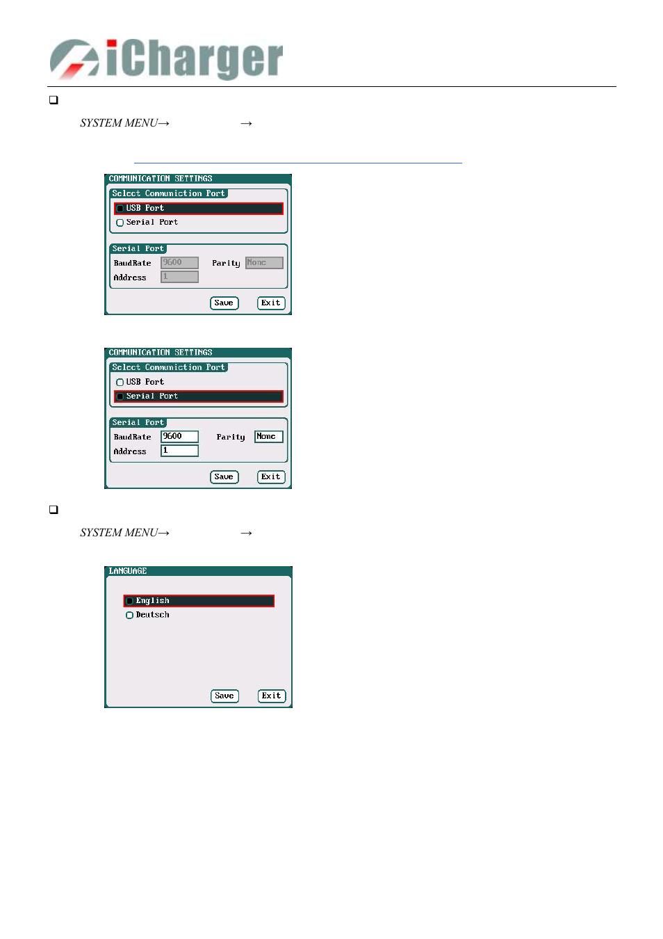 Communication settings - language setup | ProgressiveRC