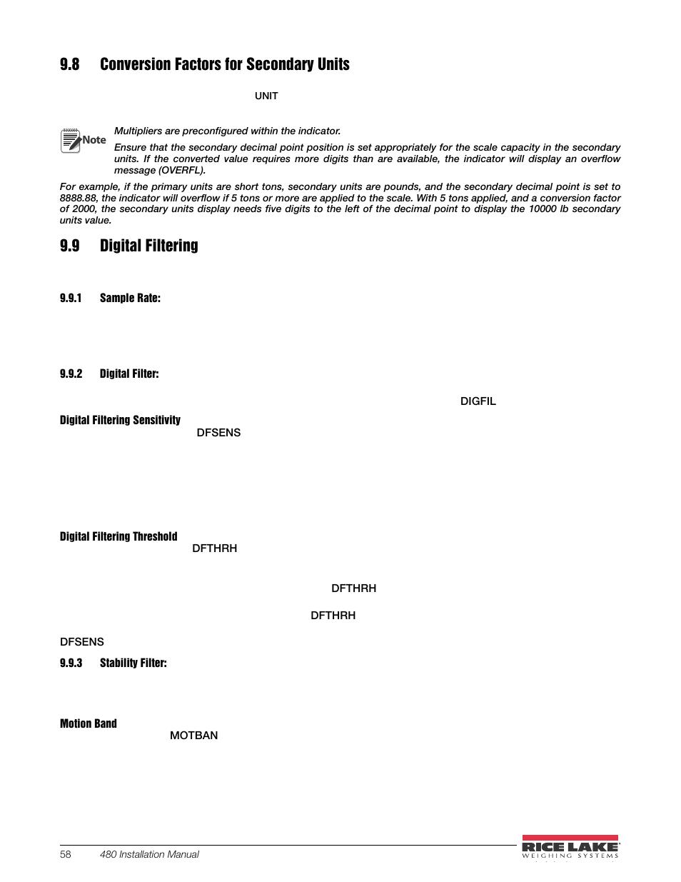 8 conversion factors for secondary units 9 digital filtering 1 rh manualsdir com user manual sample for system user manual sample for system