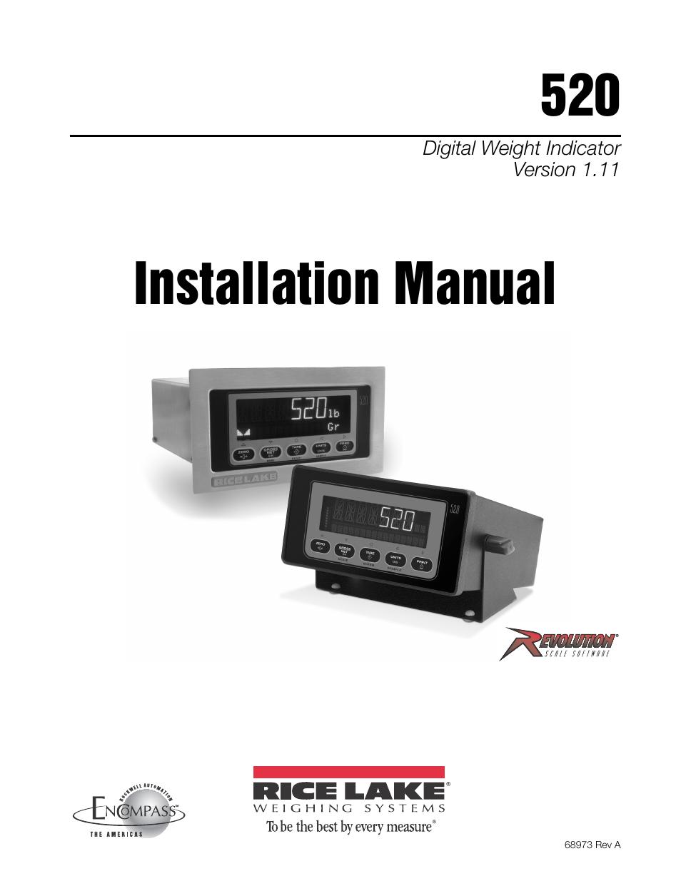 rice lake 520 hmi digital weight indicator installation manual page1 rice lake 520 hmi digital weight indicator installation manual  at bayanpartner.co