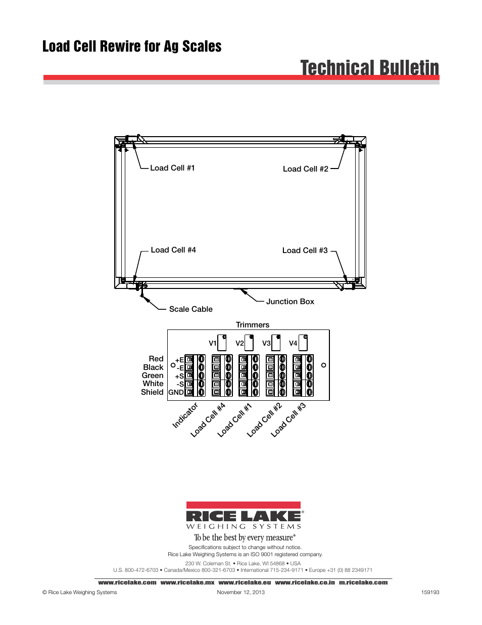 rice lake stationary livestock scale - mas-lc