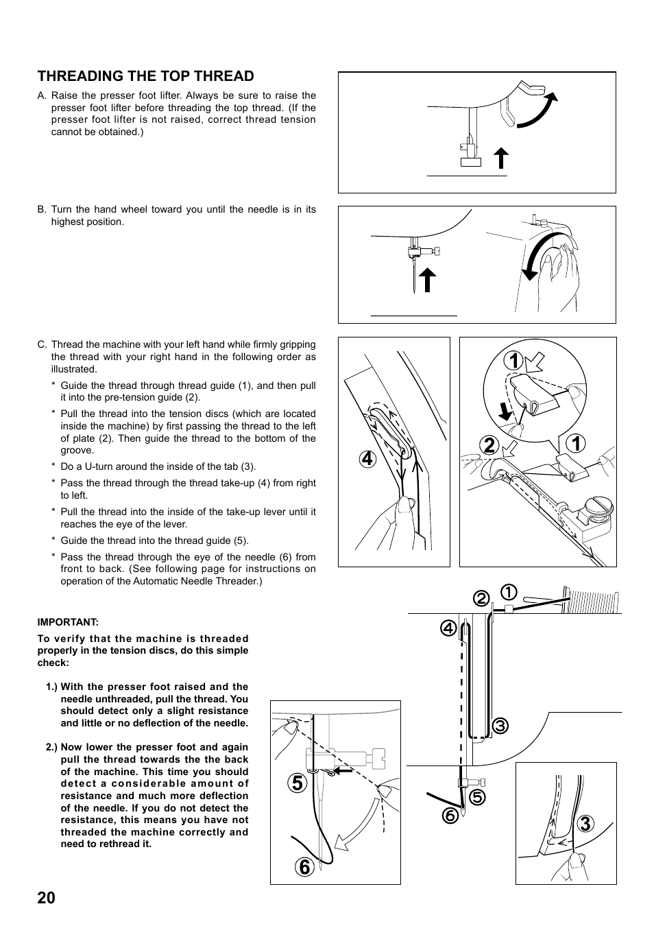 Threading The Top Thread Singer 7258 Stylist Instruction Manual This Is How Machine Should Be Threaded User Page 20 84
