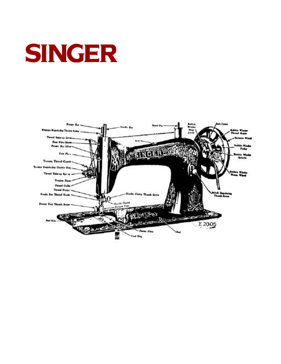 Singer Sewing Machine Parts Manual Guide