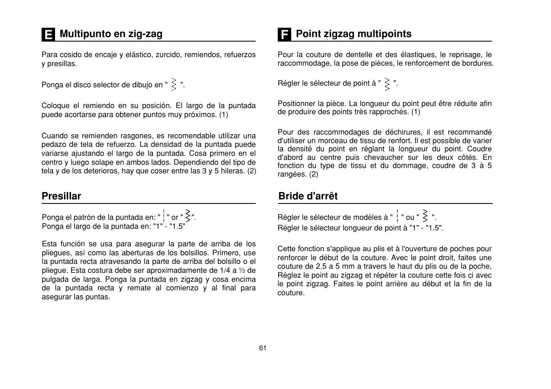 SINGER Simple 3116 User Manual | Page 68 / 94 | Original mode