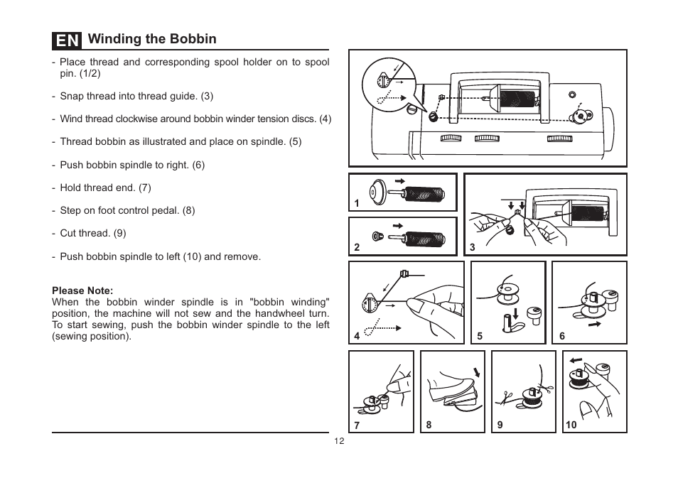 Winding The Bobbin SINGER 40 HEAVY DUTY User Manual Page 40 40 Enchanting How To Thread A Bobbin On Singer Sewing Machine