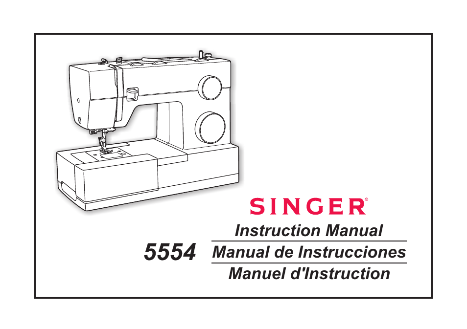 SINGER 40 Heavy Duty Combo User Manual 40 Pages Also For Classy Singer 5554 Heavy Duty Sewing Machine