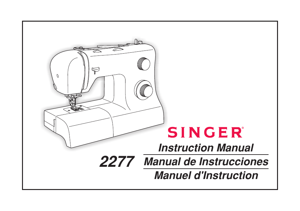 SINGER 40 TRADITION Instruction Manual User Manual 40 Pages Awesome Singer Tradition Sewing Machine